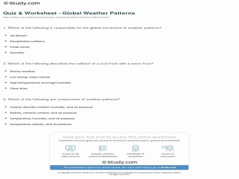 Global Wind Patterns Worksheet Fresh Global Wind Patterns Worksheet Free Printable Worksheets