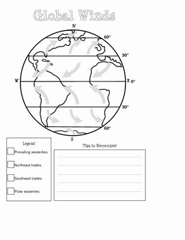 Global Wind Patterns Worksheet Lovely Global Winds Diagram by Mighty In Middle School