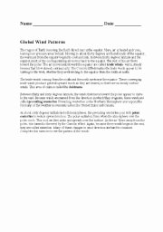 Global Wind Patterns Worksheet Luxury English Worksheets Global Wind Patterns