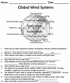 Global Wind Patterns Worksheet Luxury Global Wind Systems by True Education