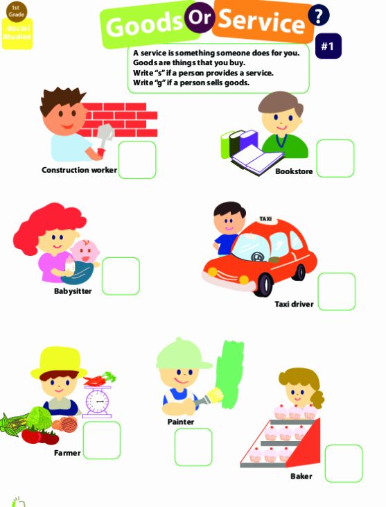 Goods and Services Worksheet Best Of Goods and Services 1 Worksheet