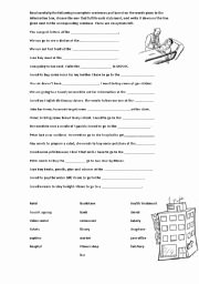 Goods and Services Worksheet Inspirational Intermediate Esl Worksheets Goods and Services