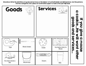 "Goods and Services Worksheet New Goods and Services ""if You Give A Mouse A Cookie """