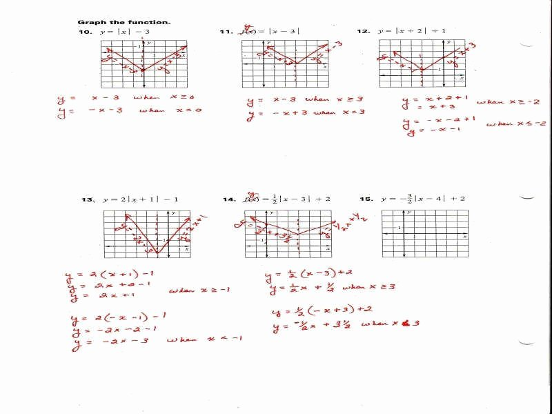 Graphing Absolute Value Equations Worksheet Beautiful Graphing Absolute Value Equations Worksheet