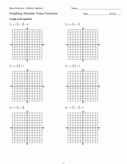 Graphing Absolute Value Equations Worksheet Elegant Graphing Absolute Value Equations Kuta software