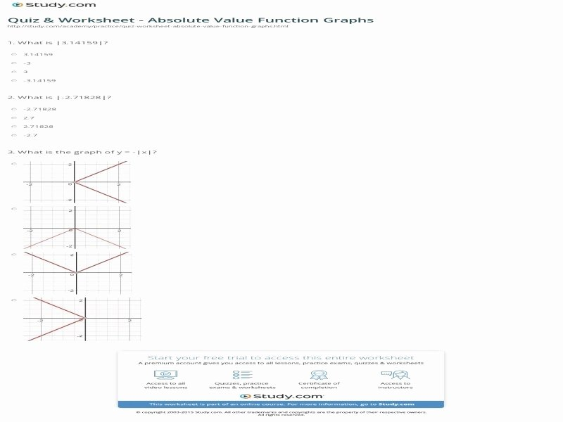 Graphing Absolute Value Functions Worksheet Awesome Absolute Value Worksheet Pdf Free Printable Worksheets