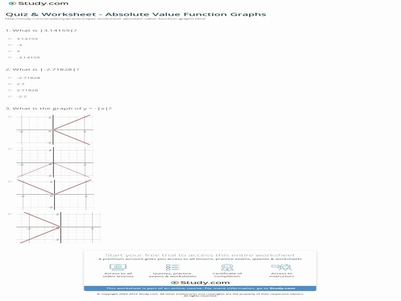 Graphing Absolute Value Functions Worksheet Lovely Graphing Absolute Value Functions Worksheet Answers Free