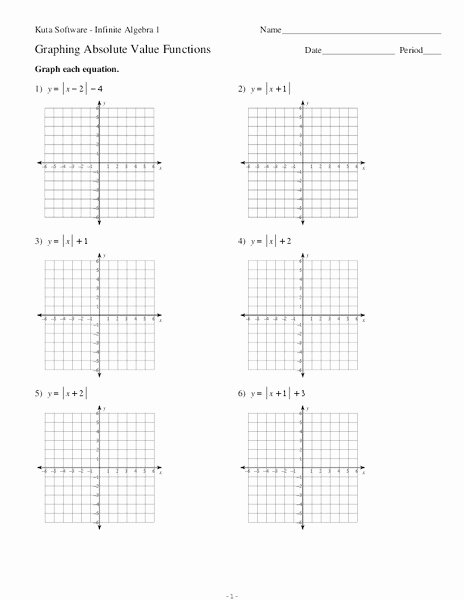 Graphing Absolute Value Functions Worksheet Unique Graphing Absolute Value Functions Worksheet for 9th Grade
