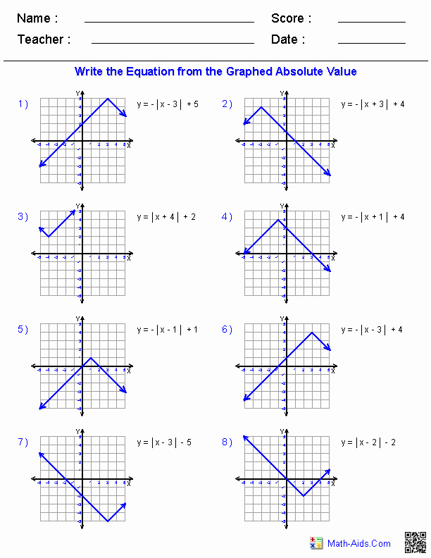 Graphing Absolute Value Inequalities Worksheet Elegant Algebra 2 Worksheets