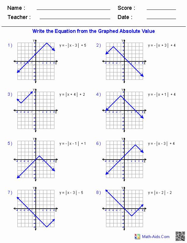 Graphing Absolute Value Inequalities Worksheet Elegant Algebra 2 Worksheets