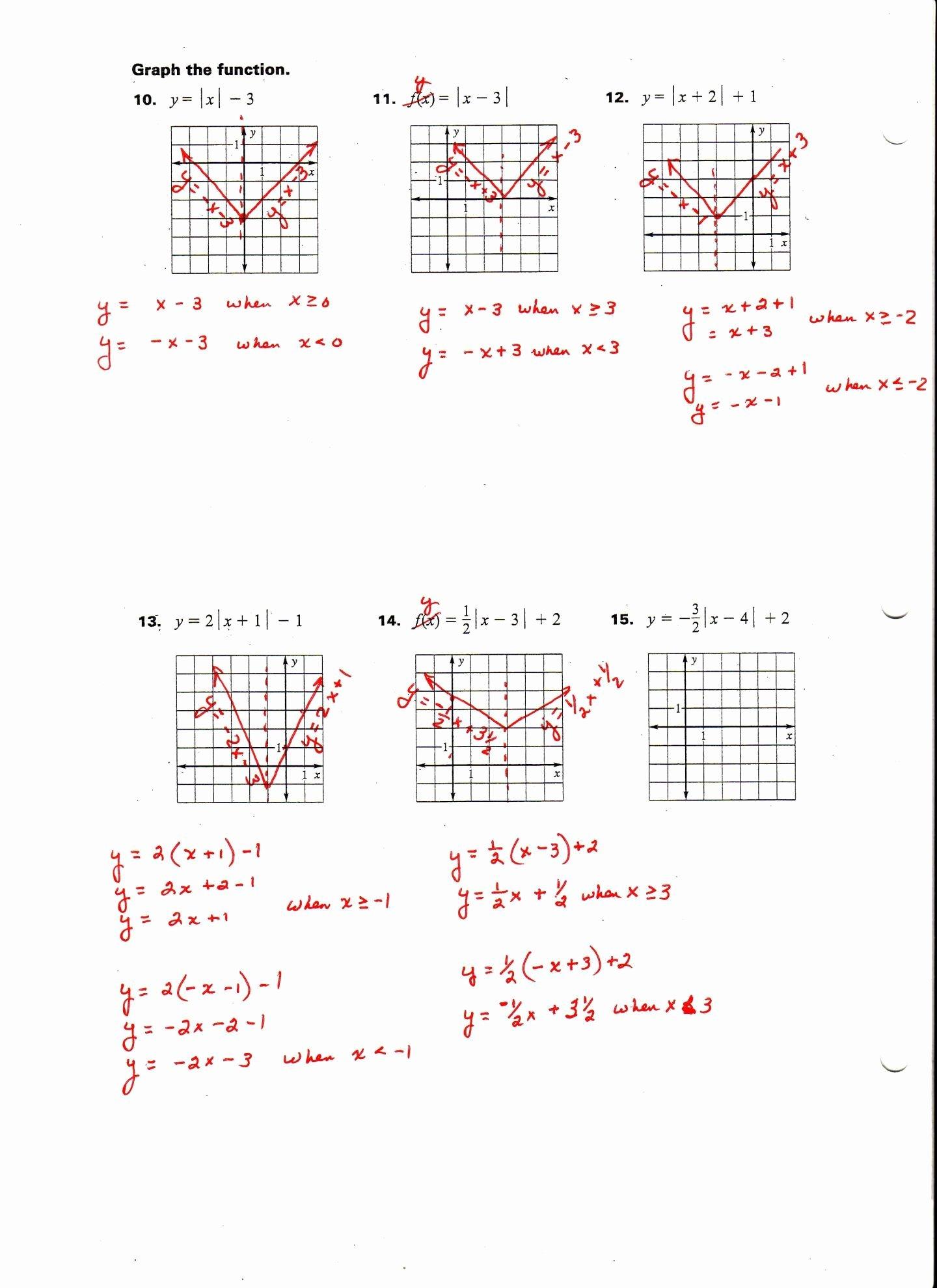 Graphing Absolute Value Inequalities Worksheet Fresh Absolute Value Inequalities Worksheet Answers Algebra 1