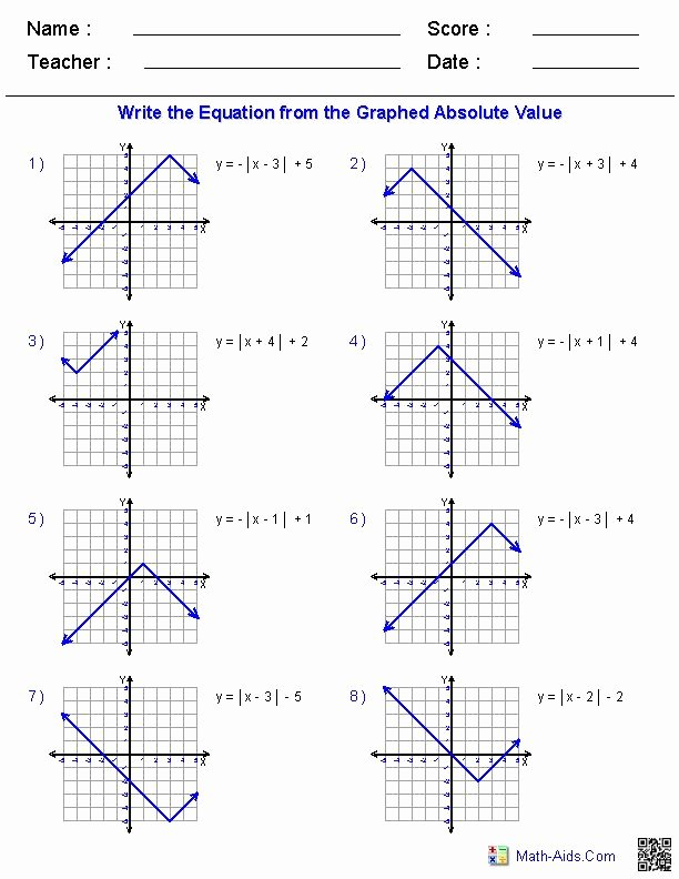 Graphing Absolute Value Inequalities Worksheet Inspirational 17 Images About Math Aids On Pinterest