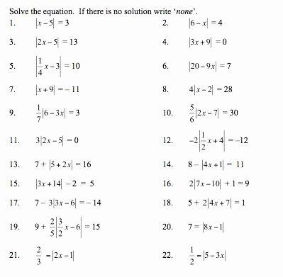 Graphing Absolute Value Inequalities Worksheet Inspirational Graphing Absolute Value Equations Worksheet