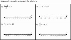 Graphing Absolute Value Inequalities Worksheet Lovely solving and Graphing Inequalities Worksheets