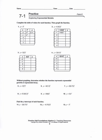 Graphing Exponential Functions Worksheet Answers Luxury Graphing Exponential Functions Worksheet Answers