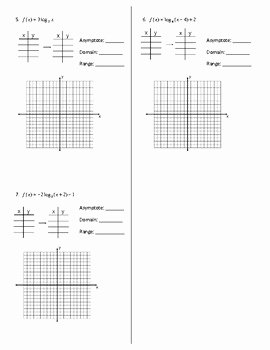 Graphing Exponential Functions Worksheet Answers Luxury Graphing Logarithmic Functions Worksheet Answer Key by