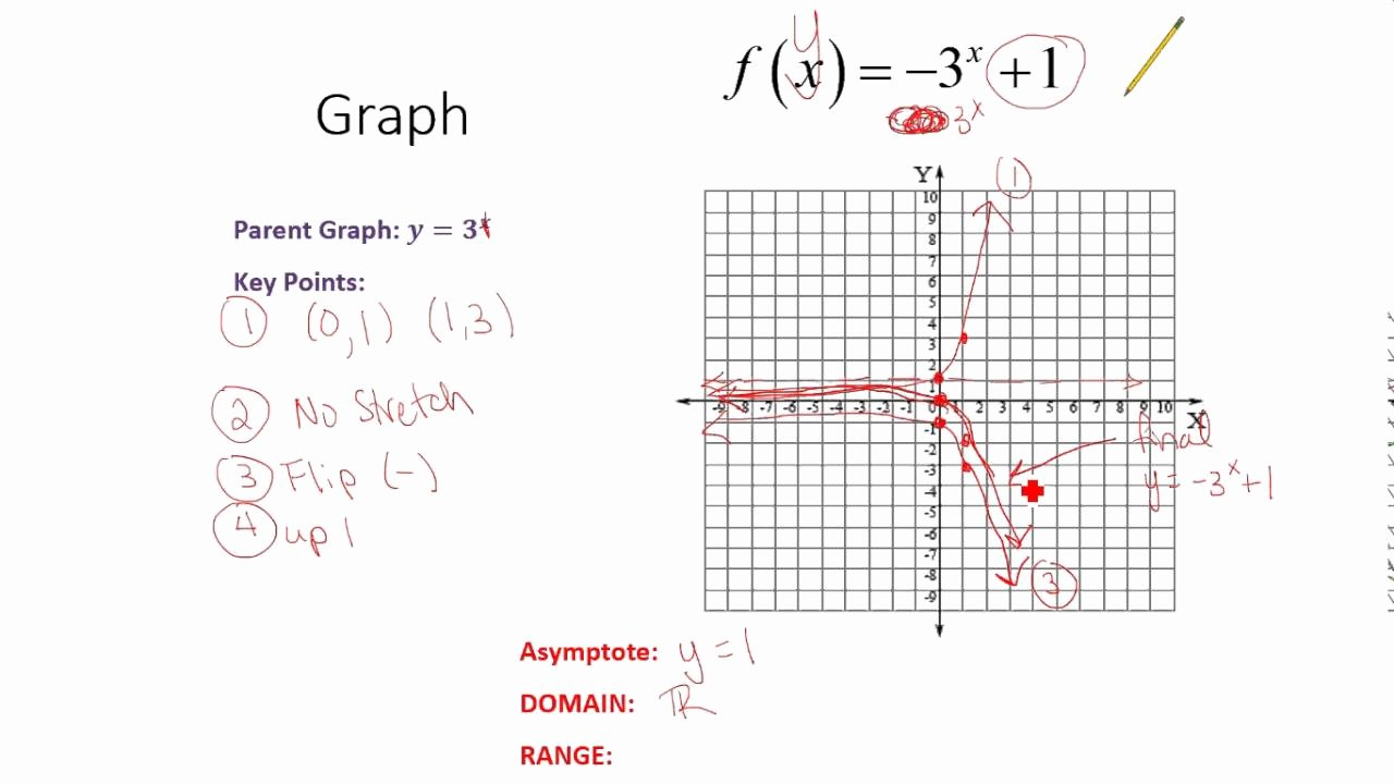 Graphing Exponential Functions Worksheet Best Of Graphing Exponential Functions Summary and Worksheet Help
