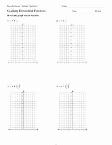 Graphing Exponential Functions Worksheet Elegant Graphing Exponential Functions Interactive for 9th 11th