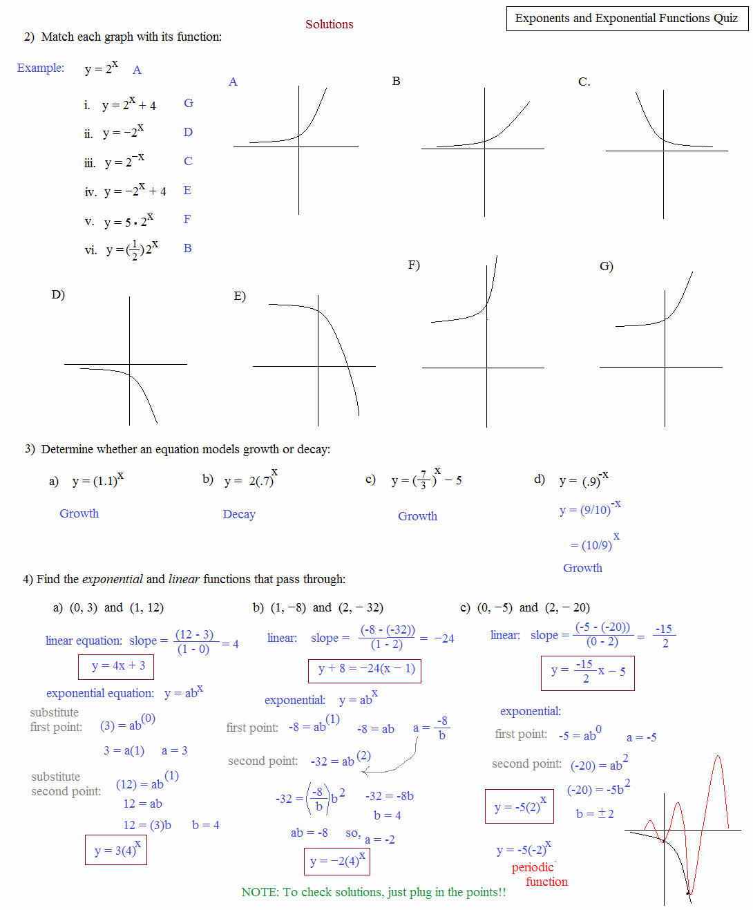 Graphing Exponential Functions Worksheet Unique 7 2 solving Exponential Equations and Inequalities