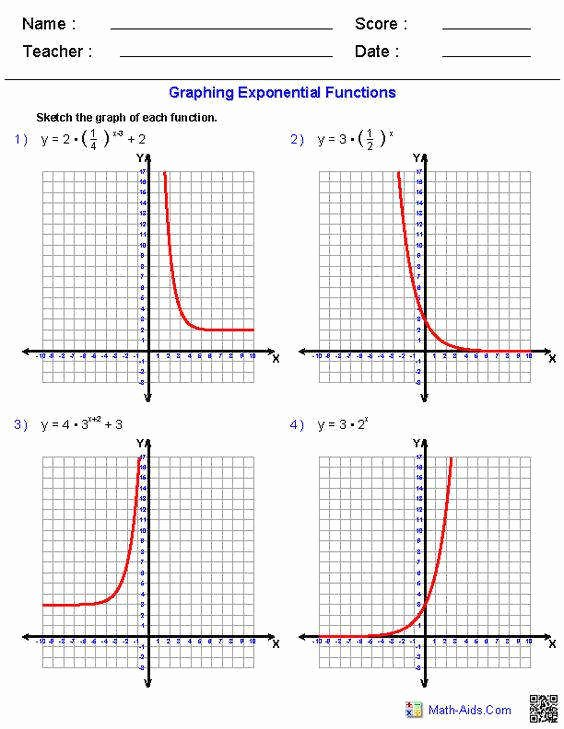 Graphing Inverse Functions Worksheet Inspirational Exponential Function Worksheet