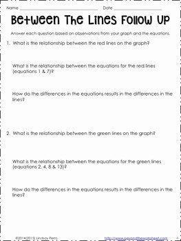 Graphing Linear Equations Practice Worksheet Awesome Graphing Linear Equations with Color Worksheet by Lindsay