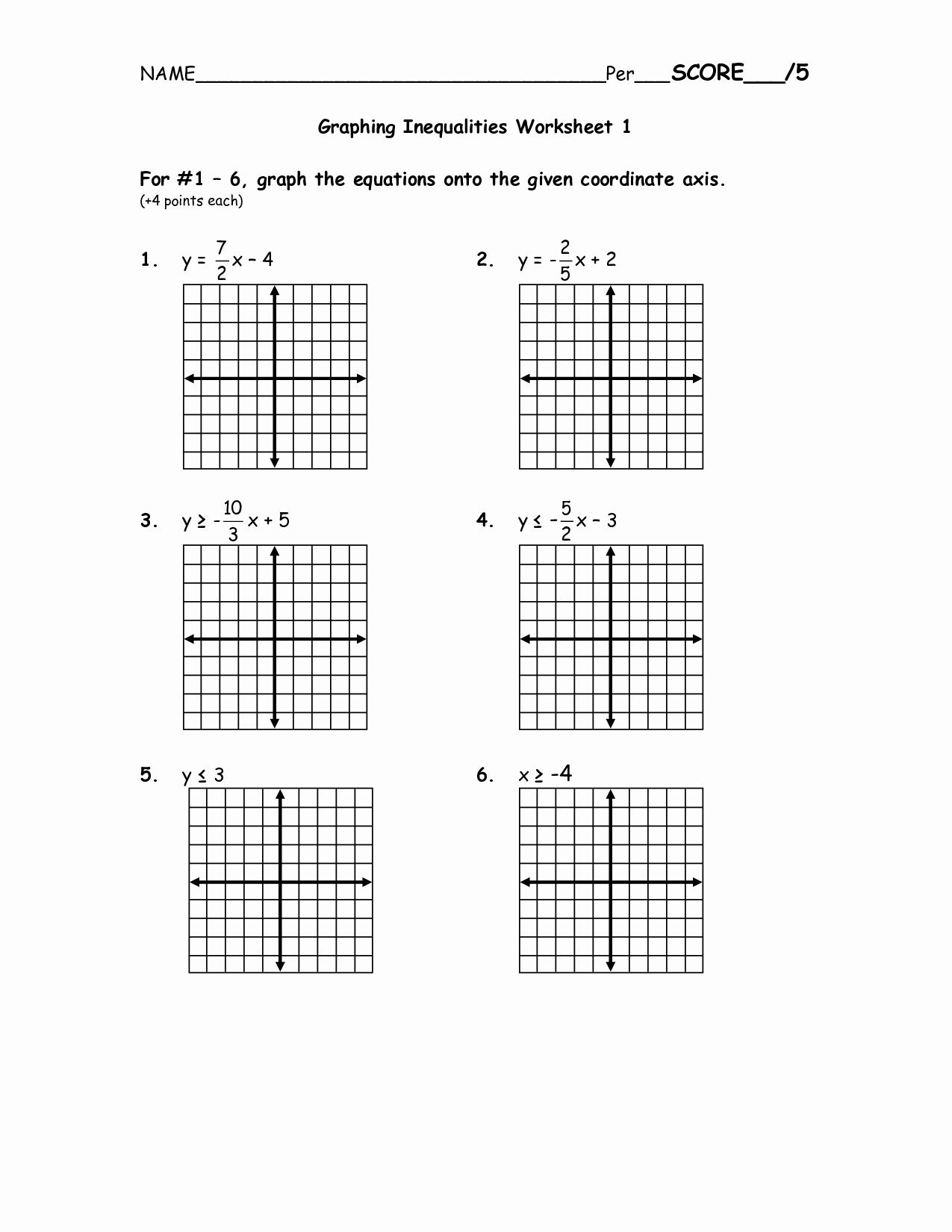 Graphing Linear Equations Practice Worksheet Unique 15 Best Of solving and Graphing Inequalities