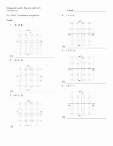 Graphing Linear Equations Practice Worksheet Unique Linear Inequalities Lesson Plans & Worksheets