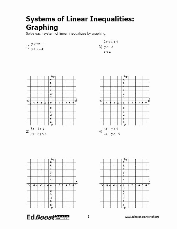 Graphing Linear Equations Worksheet Answers Awesome Systems Of Linear Equations Inequalities
