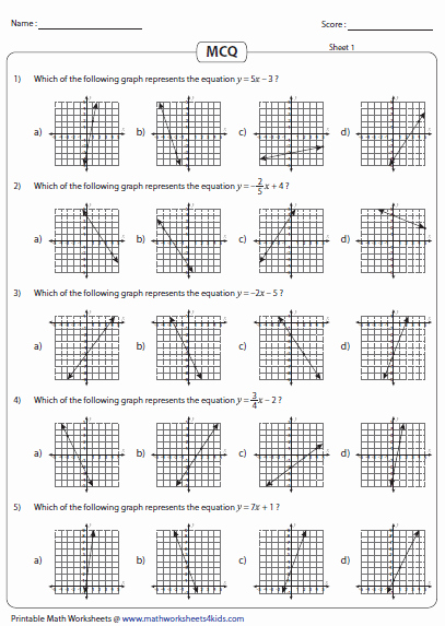 Graphing Linear Equations Worksheet Answers Beautiful Graphing Linear Equation Worksheets