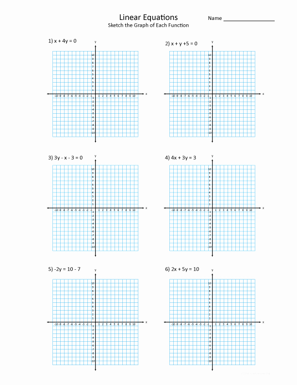 Graphing Linear Equations Worksheet Answers Inspirational Graphing Linear Functions Practice Worksheet