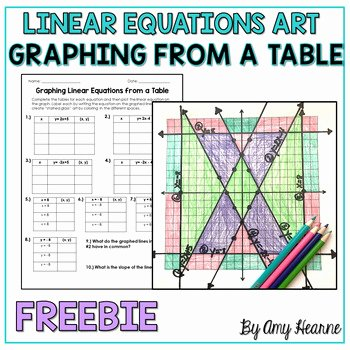 Graphing Linear Equations Worksheet Answers New Graphing Equations Stained Glass Art Project Freebie
