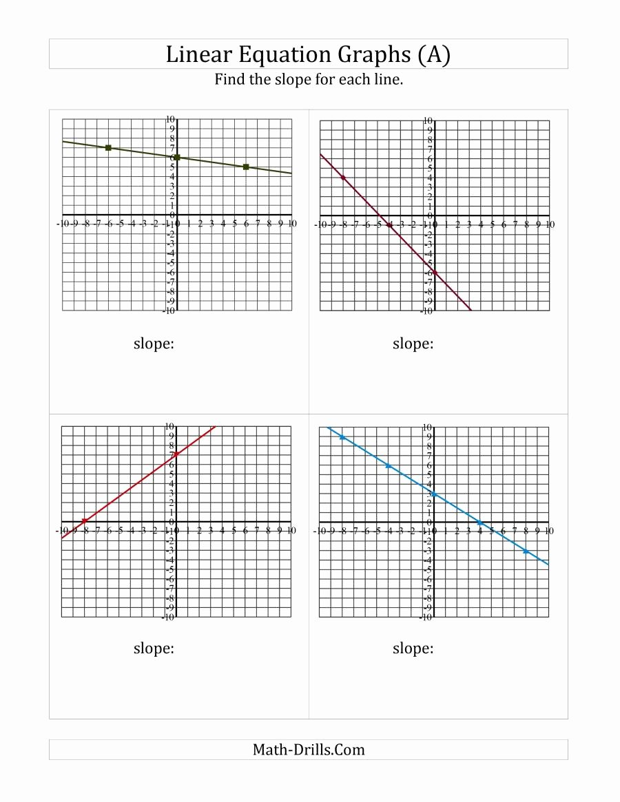 Graphing Linear Equations Worksheet Fresh Finding Slope From A Linear Equation Graph A Algebra