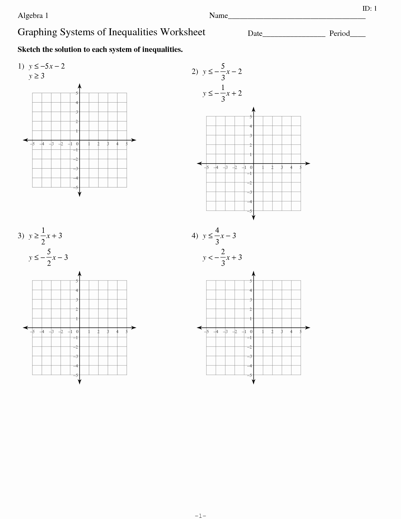 Graphing Linear Equations Worksheet Inspirational 15 Best Of solving and Graphing Inequalities