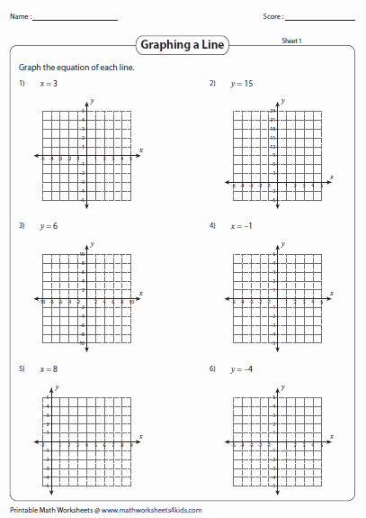 Graphing Linear Equations Worksheet New Graphing Linear Equation Worksheets