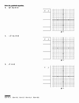 Graphing Linear Equations Worksheet Pdf Awesome Holt Algebra 9 4 solving Quadratic Equations by Graphing