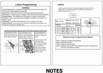 Graphing Linear Equations Worksheet Pdf New Linear Programming Graphing Inequalities Worksheet Notes