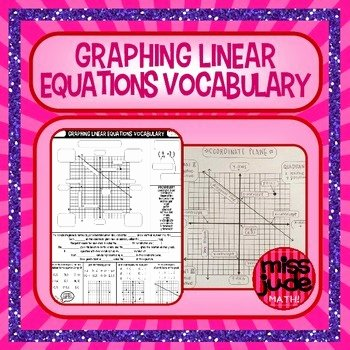 Graphing Linear Functions Worksheet Answers Elegant Graphing Linear Equations Vocabulary Guided Notes by Miss