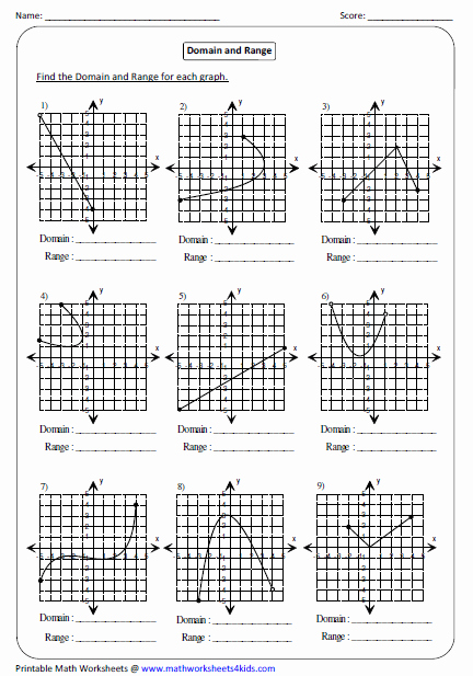 Graphing Linear Functions Worksheet Answers Inspirational Graph Domain and Range