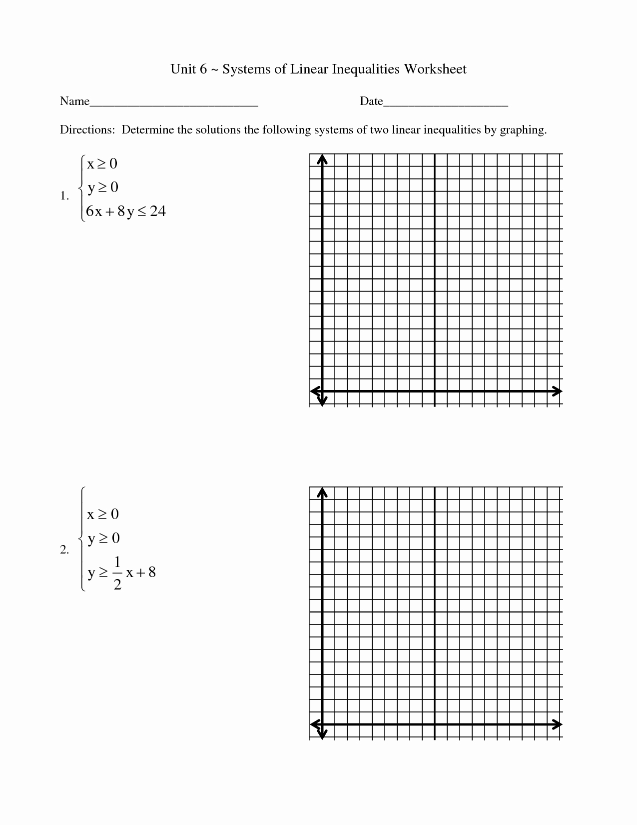 Graphing Linear Functions Worksheet Best Of 15 Best Of solving and Graphing Inequalities