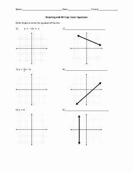 Graphing Linear Functions Worksheet Elegant Writing and Graphing Linear Equations Worksheet by Lauren