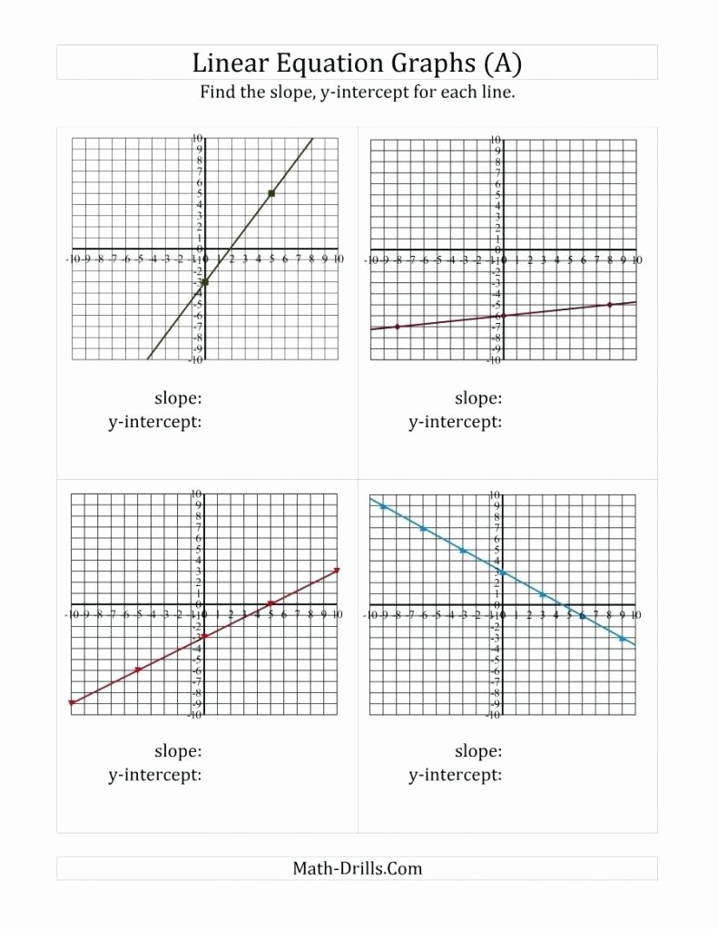 Graphing Linear Functions Worksheet Luxury Graphing Linear Functions Worksheet Answers Math