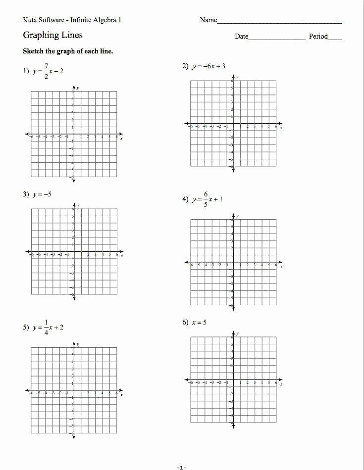Graphing Linear Functions Worksheet Pdf Unique Graphing Lines Worksheet