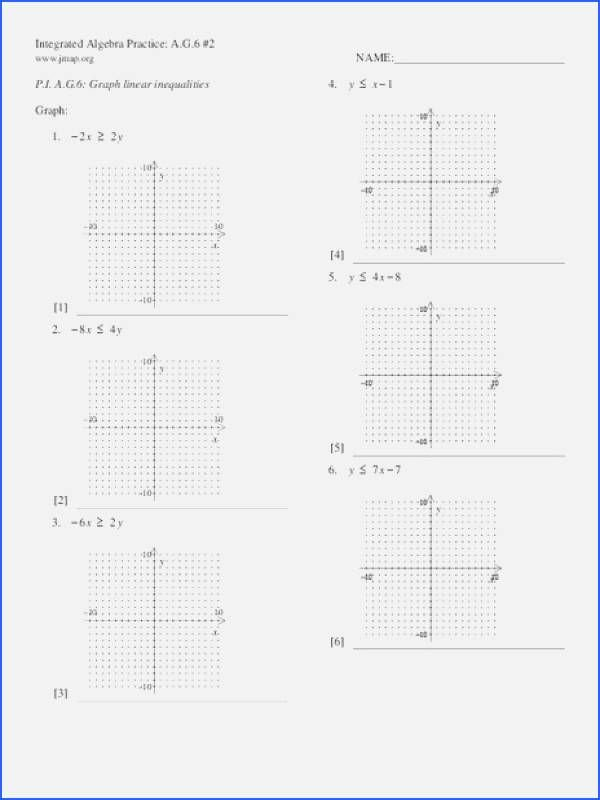 Graphing Linear Inequalities Worksheet Answers Luxury solving and Graphing Inequalities Worksheet Answer Key