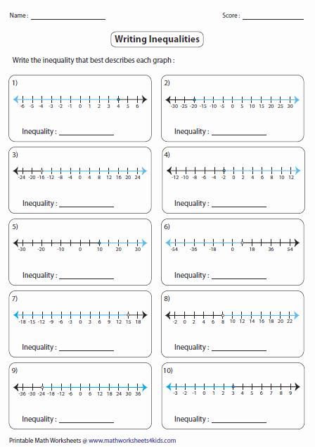 Graphing Linear Inequalities Worksheet New Inequalities Worksheets