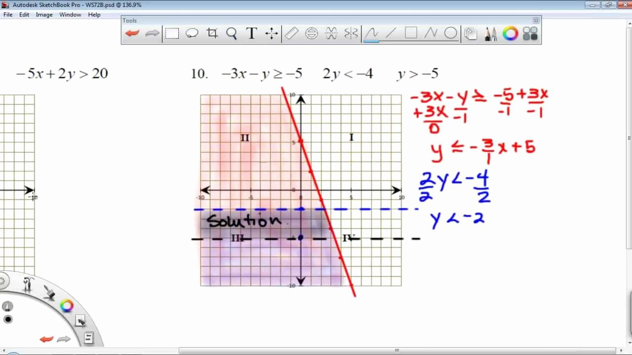 Graphing Linear Inequalities Worksheet New Worksheet 7 2b Graphing Linear Inequalities