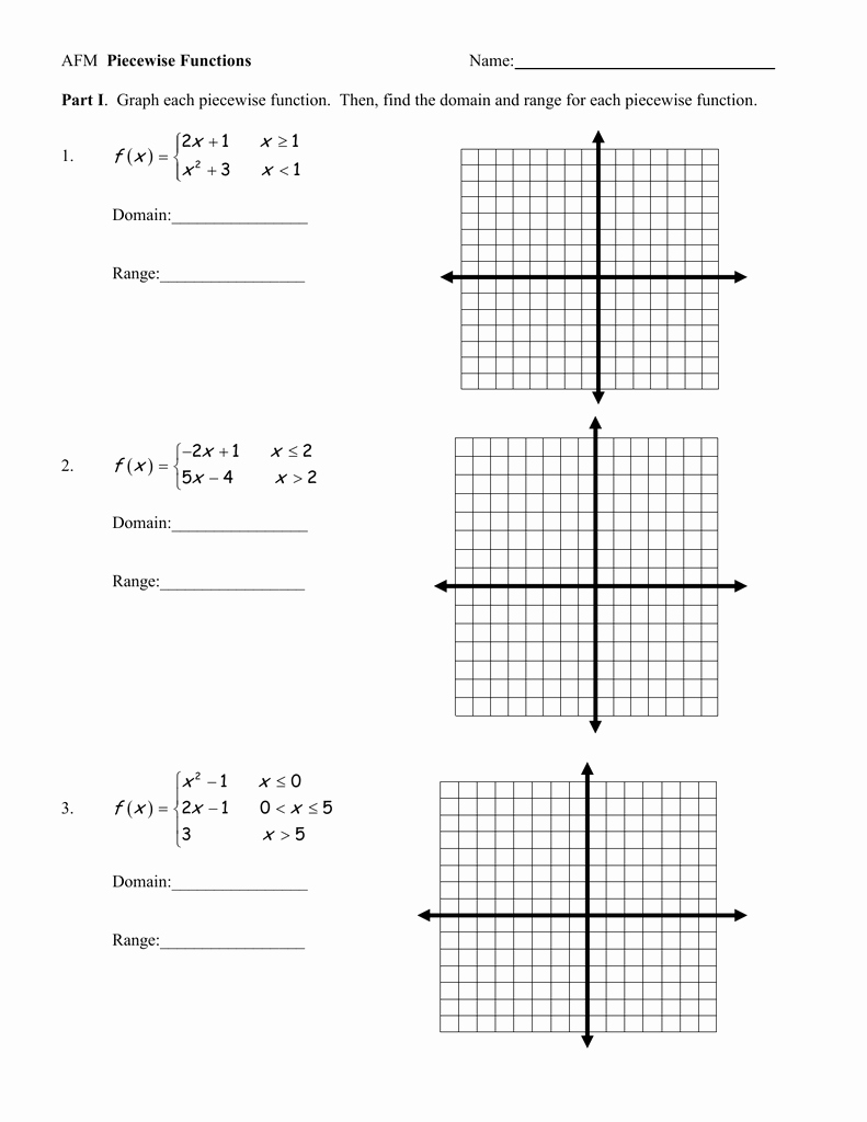 Graphing Piecewise Functions Worksheet Best Of Worksheet 1 8 Homework Piecewise Functions