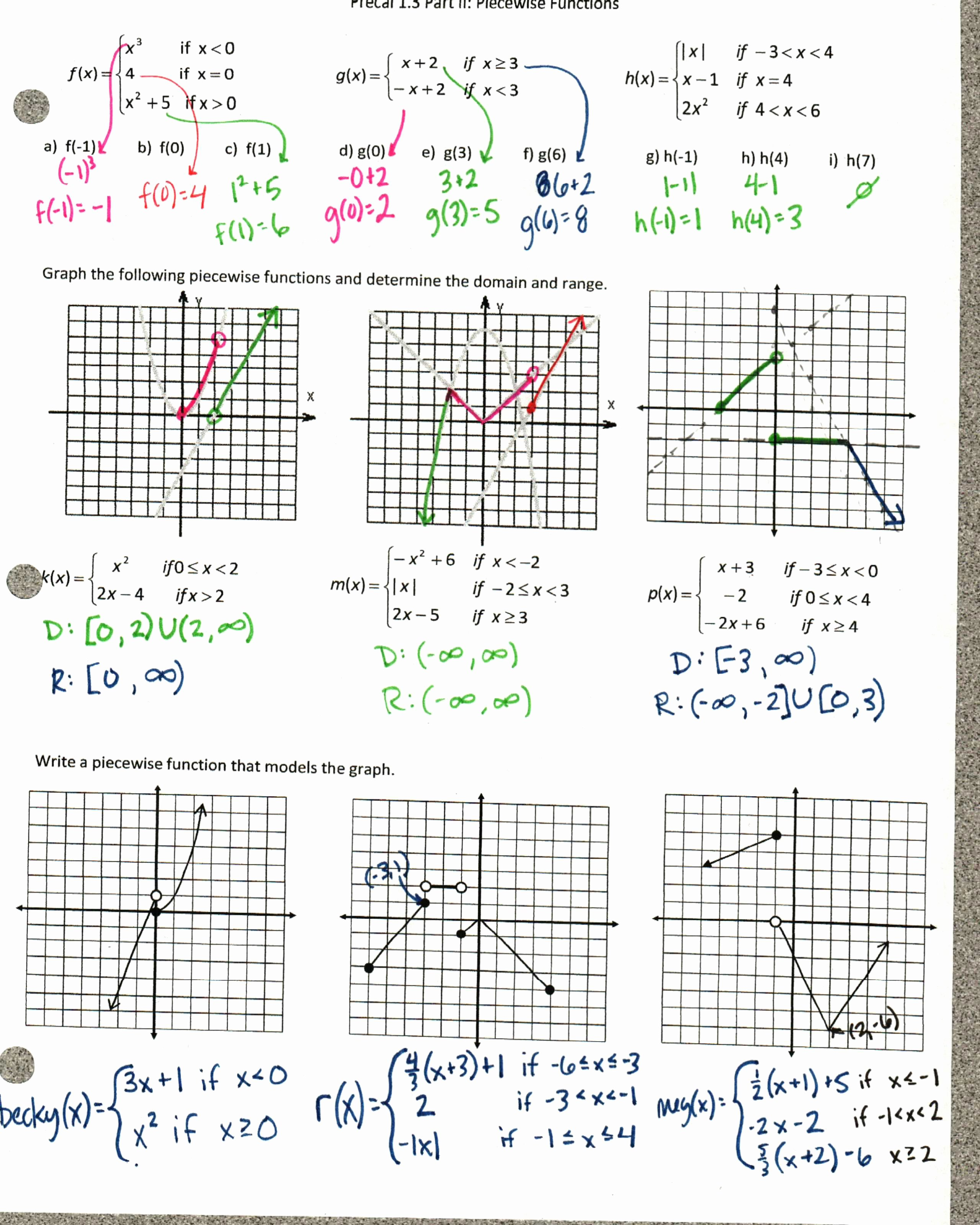 Graphing Piecewise Functions Worksheet Lovely Functions – Insert Clever Math Pun Here