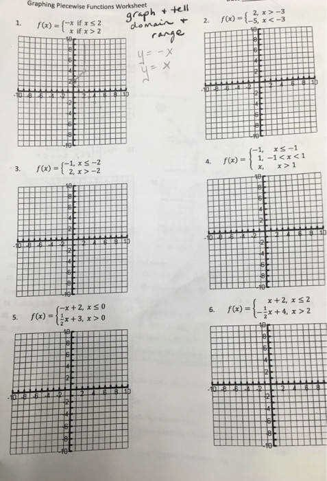 Graphing Piecewise Functions Worksheet Unique Worksheet Piecewise Functions Answers