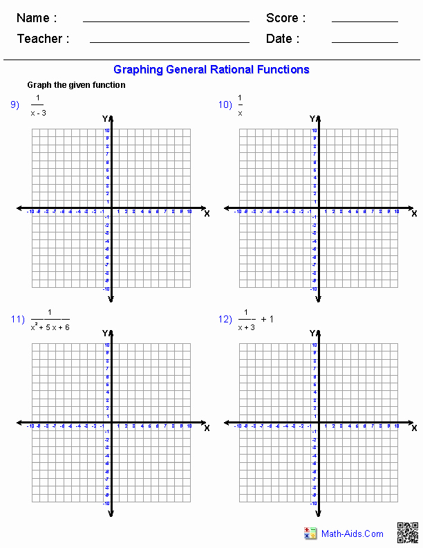 Graphing Polynomial Functions Worksheet Answers Luxury Graphing General Rational Functions Worksheets