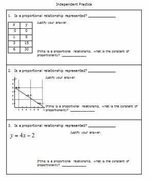 Graphing Proportional Relationships Worksheet Awesome 7th Grade Math Ratios and Proportional Relationships Part